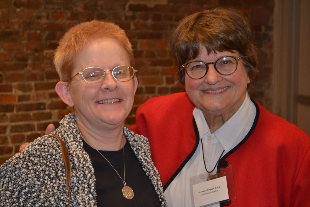 Sister Helen Prejean with The Catholic Telegraph's own Sister Eileen Connelly OSU (CT Photo/Greg Hartman)