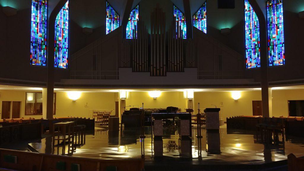 Holy Thursday Morning at St. Aloysius Gonzaga in Bridgetown. (CT Photo/Greg Hartman)
