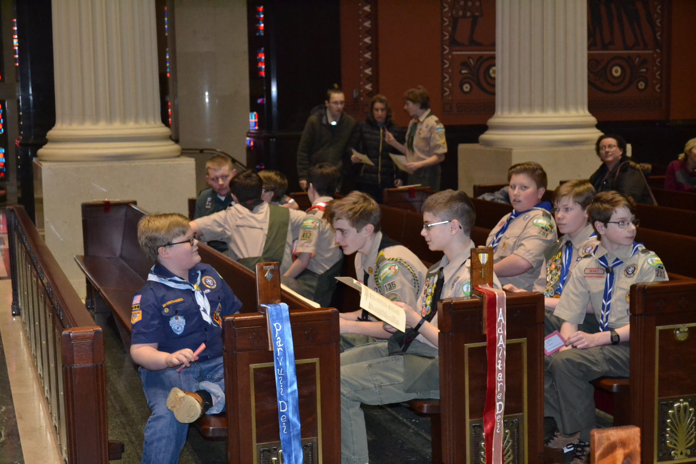 Boy Scouts from the Archdiocese of Cincinnati gather for the 2018 Religious Emblems Ceremony. (CT Photo/Greg Hartman)
