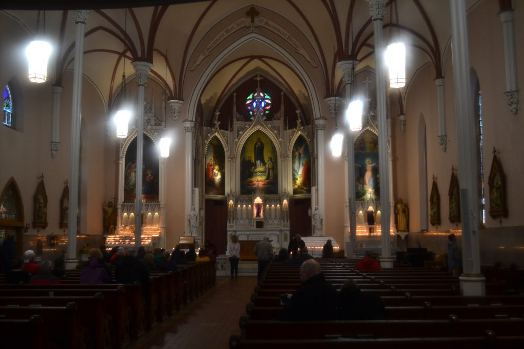 This year, Holy Cross Immaculata gave respite to the cold and the rain (CT Photo/Greg Hartman