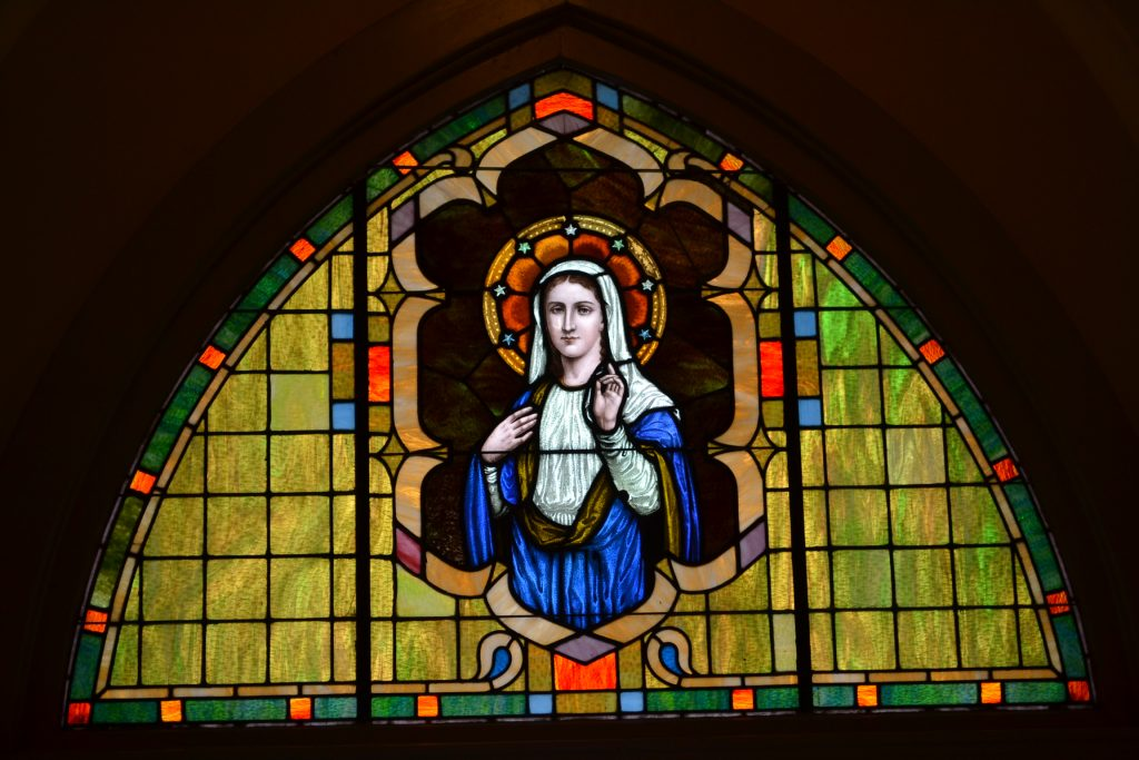 """When Jesus saw his mother* and the disciple there whom he loved, he said to his mother, """"Woman, behold, your son."""" Then he said to the disciple, """"Behold, your mother."""" And from that hour the disciple took her into his home. JN 19: 26-27 (CT Photo/Greg Hartman)"""