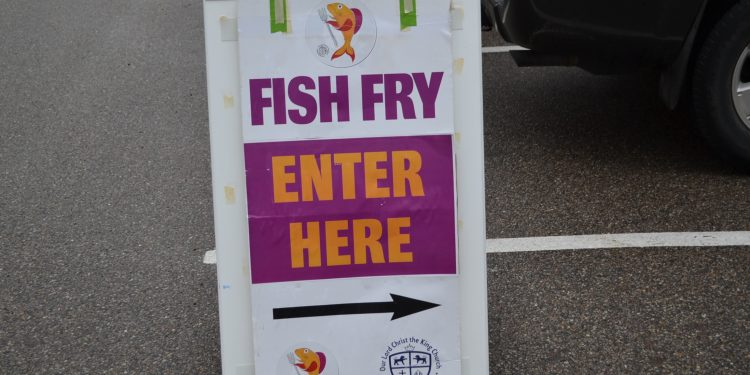 It's Fish Fry night at Our Lord Christ the King parish in Mount Lookout (CT Photo/Greg Hartman)