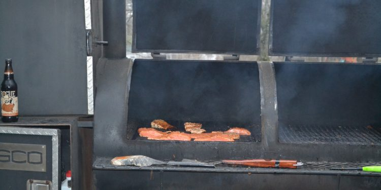 Delicious fish on the grill on a Lenten Friday night at Our Lord Christ the King Fish Fry (CT Photo/Greg Hartman)
