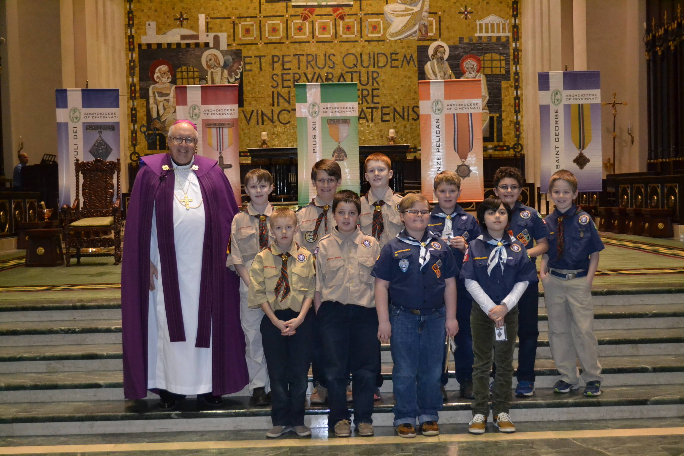 Light of Christ Boy Scout recipients (CT Photo/Greg Hartman)