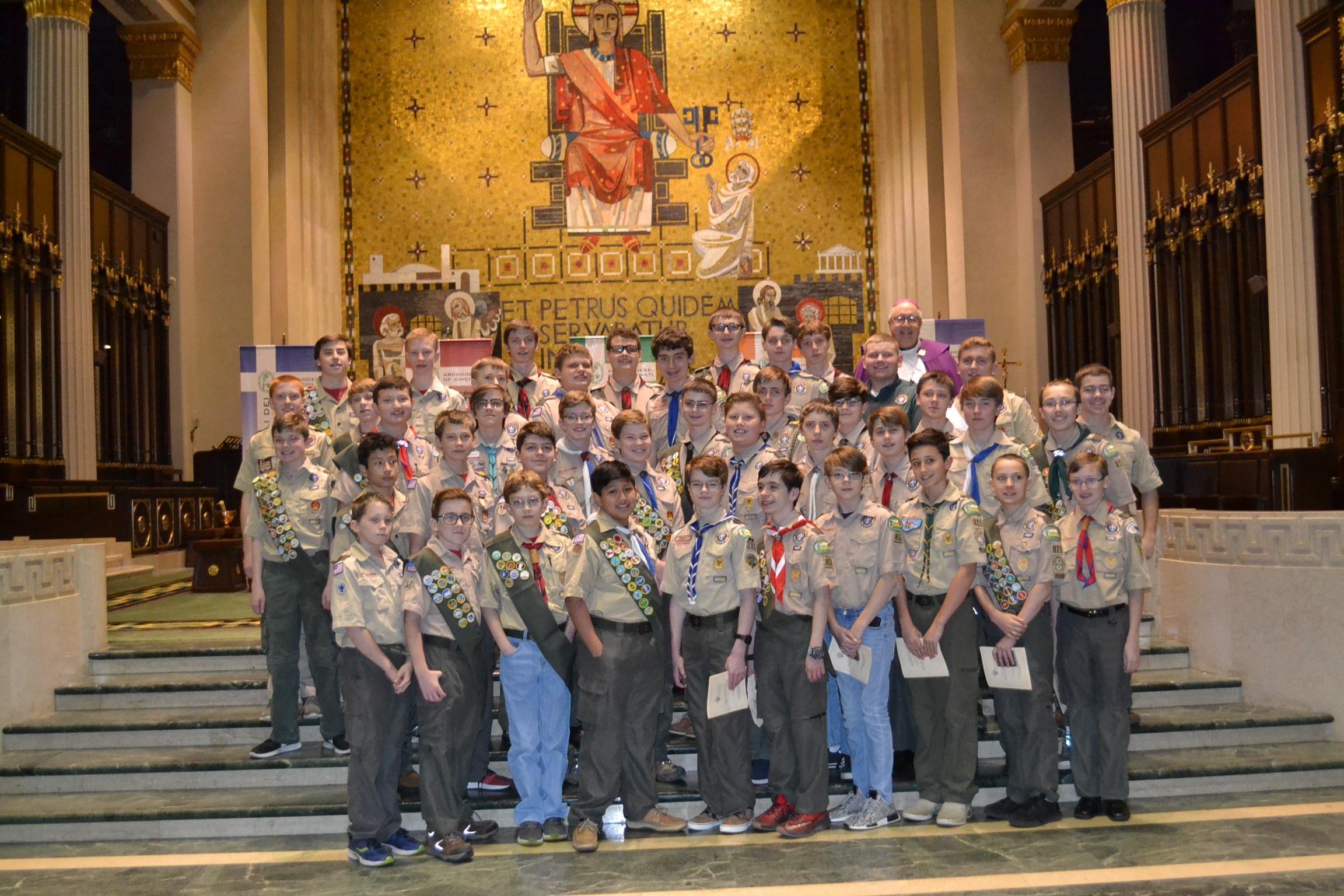 Ad Altare Dei recipients at the 2018 Religious Emblems Ceremony (CT Photo/Greg Hartman)