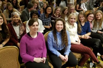 Members of Ursuline Academy's JSA chapter attend the opening ceremony for the 2018 JSA Winter Congress. (Courtesy Photo)
