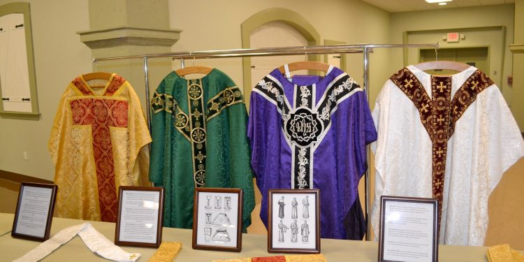 Vestments for Rev. Jacob Willig (CT Photo/Greg Hartman)
