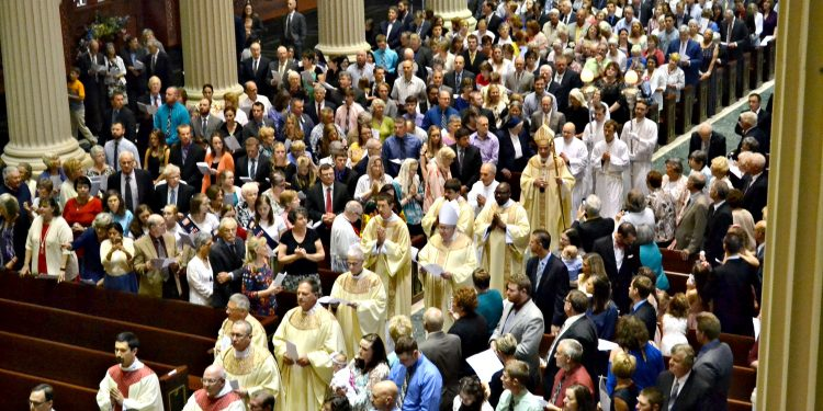 The processional on Ordination Day 2018. (CT Photo/Greg Hartman)