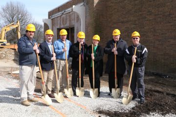 Bishop Joseph R. Binzer (second from right) blessed the site and participated in the groundbreaking. (Courtesy Photo)