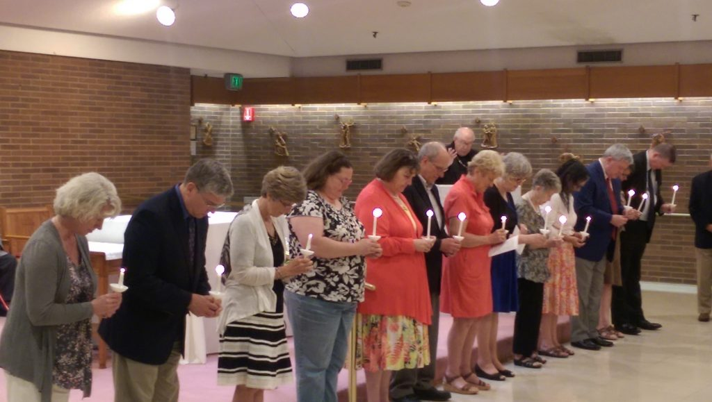 Thirteen new members, the largest group to join in several decades, were inducted into the Serra Club of Cincinnati on May 22. (Courtesy photo)