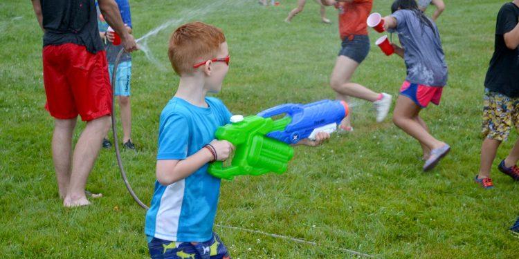 Ready and aim, afternoon fun at St. Bernadette (CT Photo/Greg Hartman)