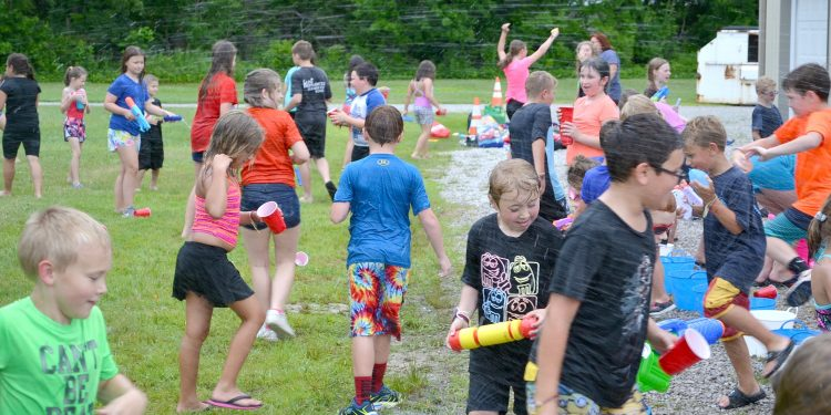 Summertime fun at St. Bernadette to end a great week of prayer, learning, and meeting new friends. (CT Photo/Greg Hartman)