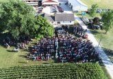 Bishop Joseph Binzer celebrated the 2018 Rural Farm Mass on July 19, 2018. The view from above at the Franck Farm The view overhead of Doug & Sarah Franck's Farm in Saint Henry Ohio. Wonderful views of our farms in the Archdiocese of Cincinnati. (Photo by Tom Kueterman)