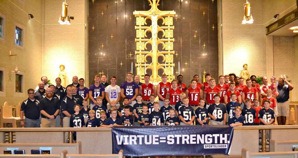 Participants in the 2018 Sportsleader Rosary Rally were from Elder, La Salle, and St. Gertrude. (CT Photo/Greg Hartman)
