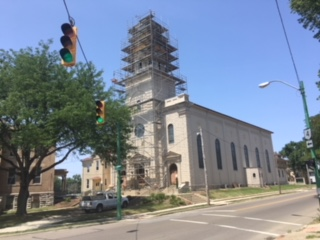 St. Bernard Church, Springfield, undergoing renovation. (Courtesy Photo)