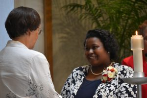 Sister LaKesha Church's first profession of vows (Courtesy Photo)