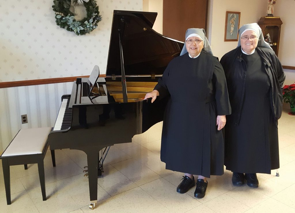 Sister Imelda (left) & Sister Madeline (Right) at the Piano (Courtesy Photo)