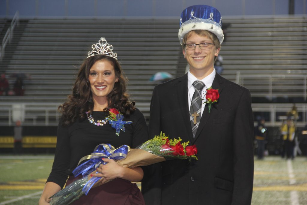 Homecoming Queen Samantha Edwards (l), and Homecoming King Elias Bezy (r) at Lehman High School (Courtesy Photo)