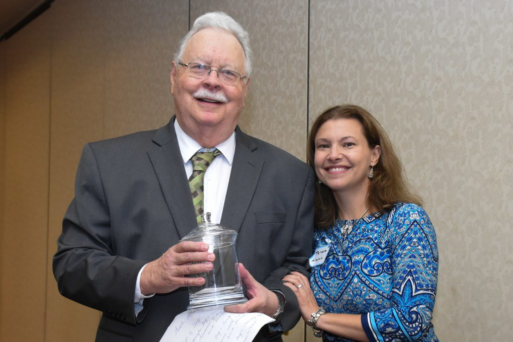Walt Schaefer poses for a photo with Teresa Nichols, a member of the Caring Like Karen Committee. (Courtesy Photo)
