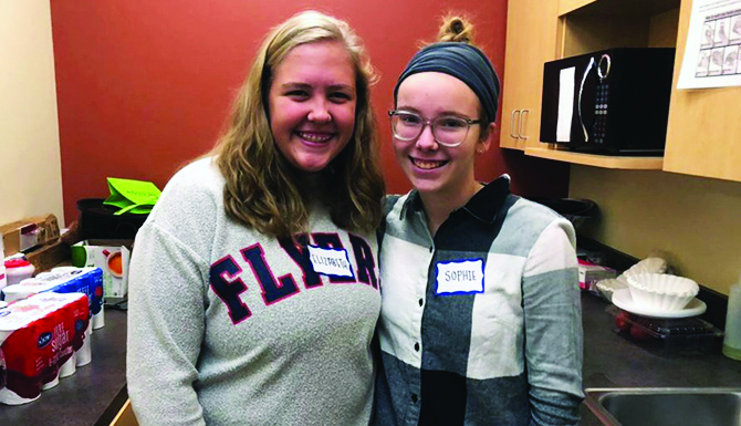 Elizabeth Murray, left, and Sophie Haws are still learning and growing from their immersion experience. (Courtesy Photo)