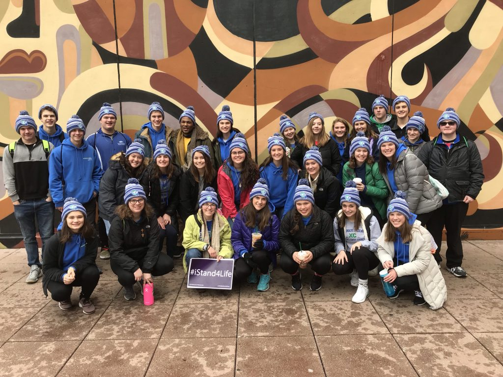 Chaminade Julienne Students participating in March for Life 2019. (CT Photo/Jeff Unroe)