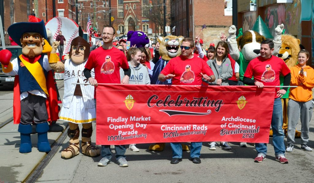 In our 198th year as an Archdiocese, we celebrate the 150th Opening Day of Cincinnati Reds Baseball in the Findlay Market Opening Day Parade. (CT Photo/Greg Hartman)