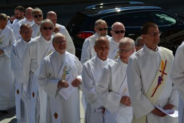 A sun drenched April Morning as deacons process at Diaconate Ordination. (CT Photo/Greg Hartman)