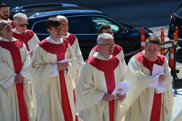 On a beautiful Spring Morning, Priest process into the Cathedral for the Ordination of Deacons (CT Photo/Greg Hartman)