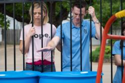 """Emma Elle Roberts and Jared Lotz star in a scene from scene from the movie """"Unplanned,"""" the story of Abby Johnson, a former Planned Parenthood clinic director, and her decision to join the pro-life movement. The Catholic News Service classification is A-III -- adults. The Motion Picture Association of America rating is R -- restricted. Under 17 requires accompanying parent or adult guardian. (CNS photo/Unplanned.com)"""