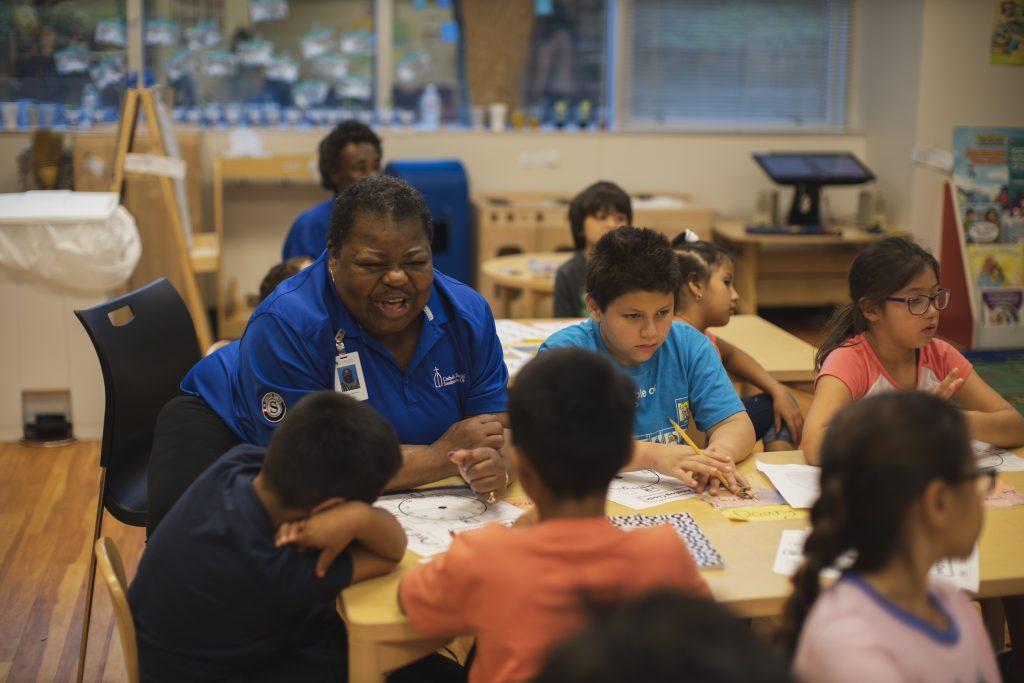 JoEtta Oglesby serves as a classroom foster grandparent with Catholic Charities' Senior Corps program. (CT Photo / Margaret Swensen)
