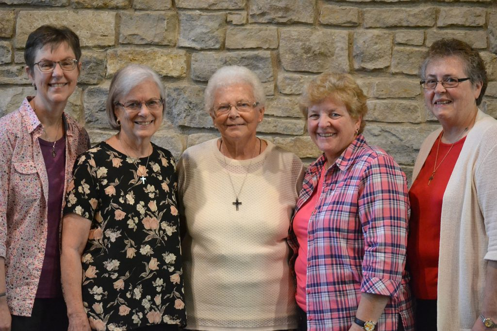 New council 2019 - Sisters Marla Gipson, Margo Young, Edna Hess, Patty Kremer and Ann Clark (Courtesy Photo)