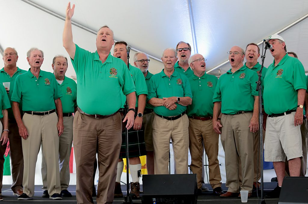 The Friendly Sons of St. Patrick Glee Club performs during the Cincinnati Celtic Festival in downtown Cincinnati Sunday, Aug. 18, 2019. (CT PHOTO/E.L. HUBBARD)