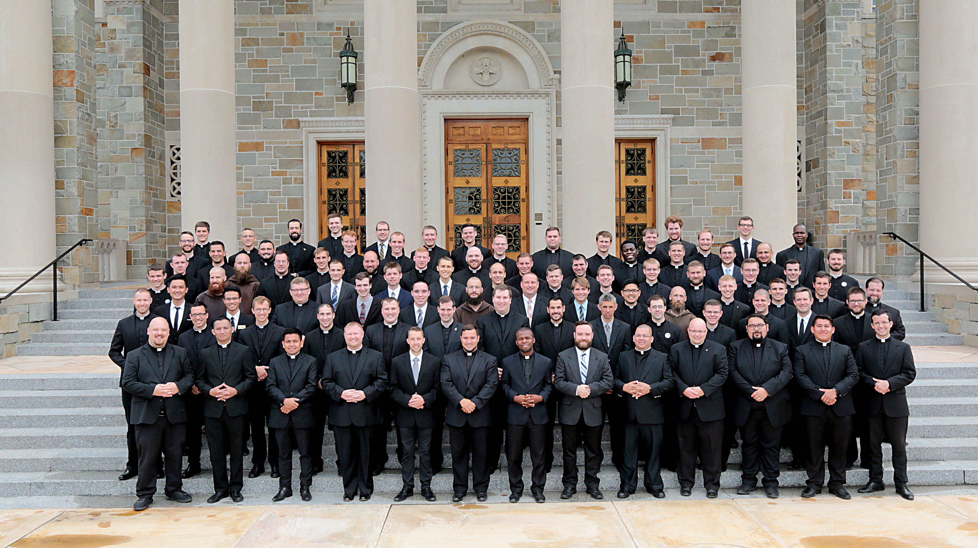 Seminarians posed for a picture on their first day of class for the 2019-2020 academic year. (CT Photo/EL Hubbard)