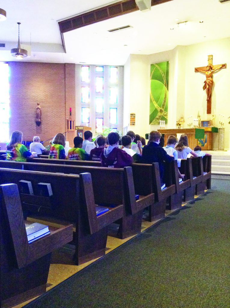The Archdiocese of Cincinnati observed the second annual Day of Prayer for the Church and the Victims of Abuse on Sept. 13. Students at St. Peter School in Huber Heights attended the weekly Eucharistic Adoration throughout the day and prayed the Rosary, the Litany of the Most Precious Blood and the Service of the Word.