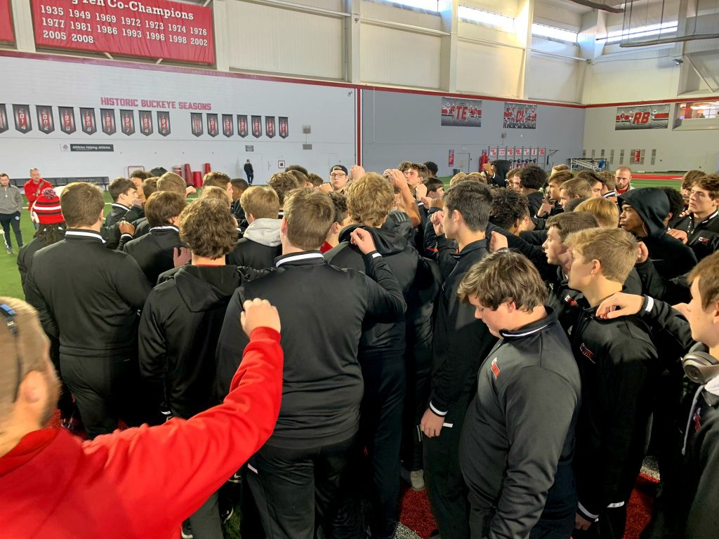 After a morning departure, The La Salle Lancer Football team headed for Canton, with a brief stop at The Ohio State Buckeyes training facility.