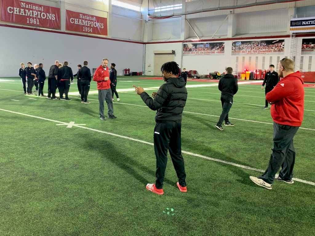 The Lancers took on the Buckeyes training facility en route to their championship game in Canton