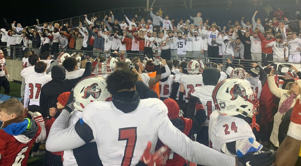 Sharing a great moment with the Lancer faithful.
