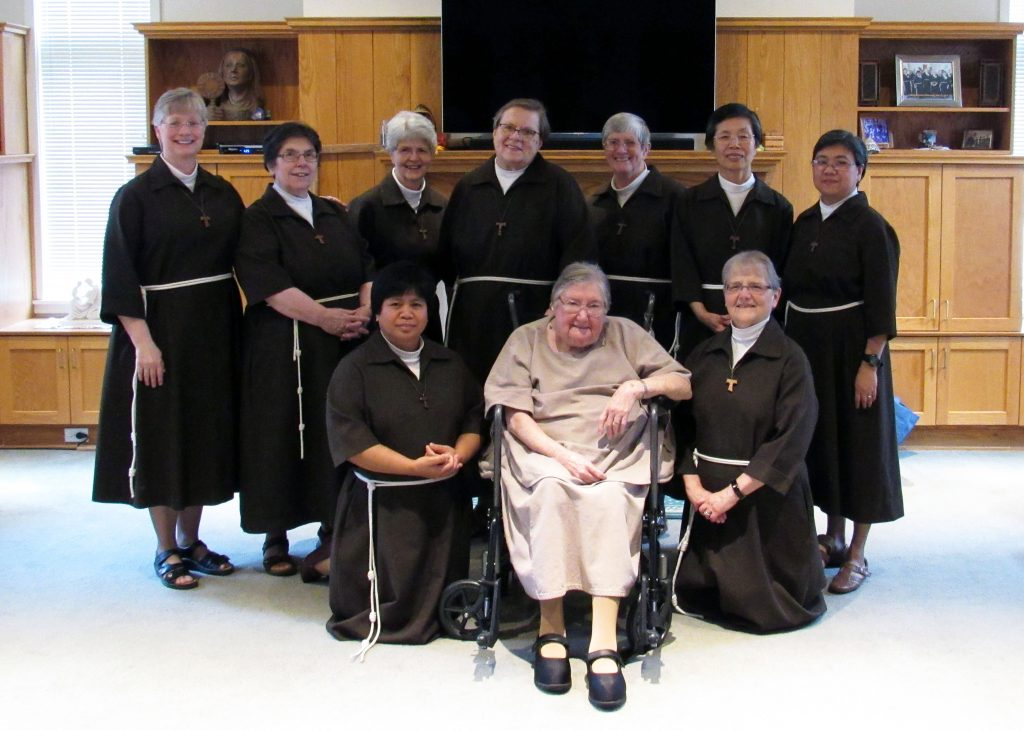 Front Row: Sr. Luisa Bayate, Sr. Alma Lagberg, Sr. Anna Marie Covely   Back Row: Sr. Vickie Griner, Sr. Mary Anthony Nelson, Sr. Dianne Short, Sr. Ann Bartko, Sr. Doris Gerke, Sr. Dianne Short, Sr. Rita Cheong and Sr. Mary Pia Malaboror