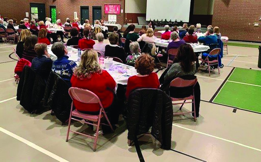 The Blessed Saints Pastoral Region of St. Bartholomew and St. Vivian celebrated the 15th year of the Women's Advent Evenings on Dec. 4. Speaker Mikayla Owens inspired them to tell the world about the hope and love we have in Jesus Christ.