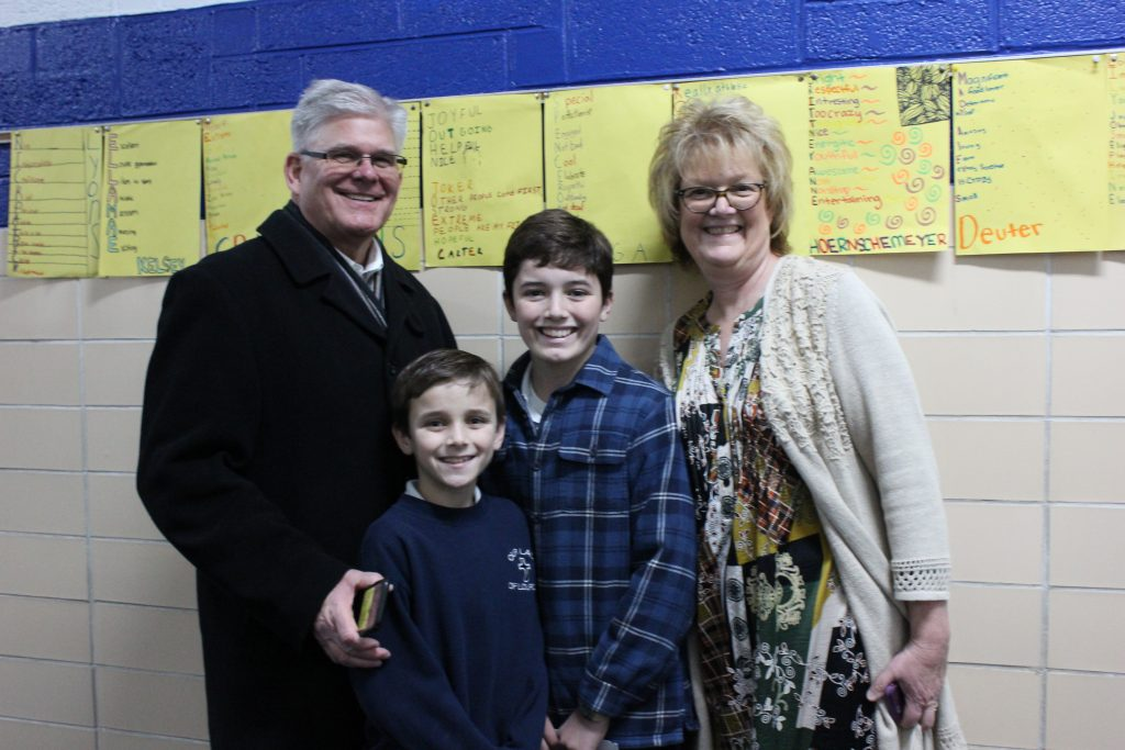 Our Lady of Lourdes School celebrated Grandparents' Day on Nov. 26. The students and their grandparents attended Mass together in the morning. After Mass, the grandparents toured the school, saw the children's work and celebrated together in advance of Thanksgiving.