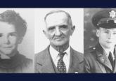 "Charlene Richard, Auguste ""Nonco"" Pelafigue, and Lt. Father Verbis Lafleur. Courtesy photo."