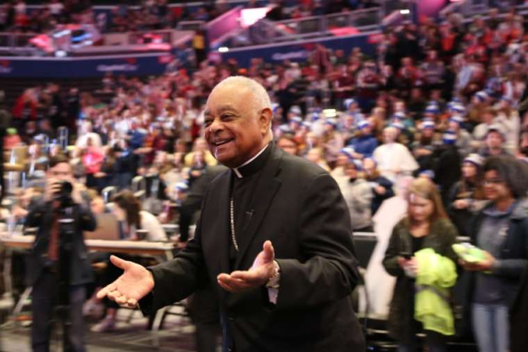 Archbishop Wilton Gregory at the 2020 Youth Rally and Mass for Life. Credit: Peter Zelasko/CNA