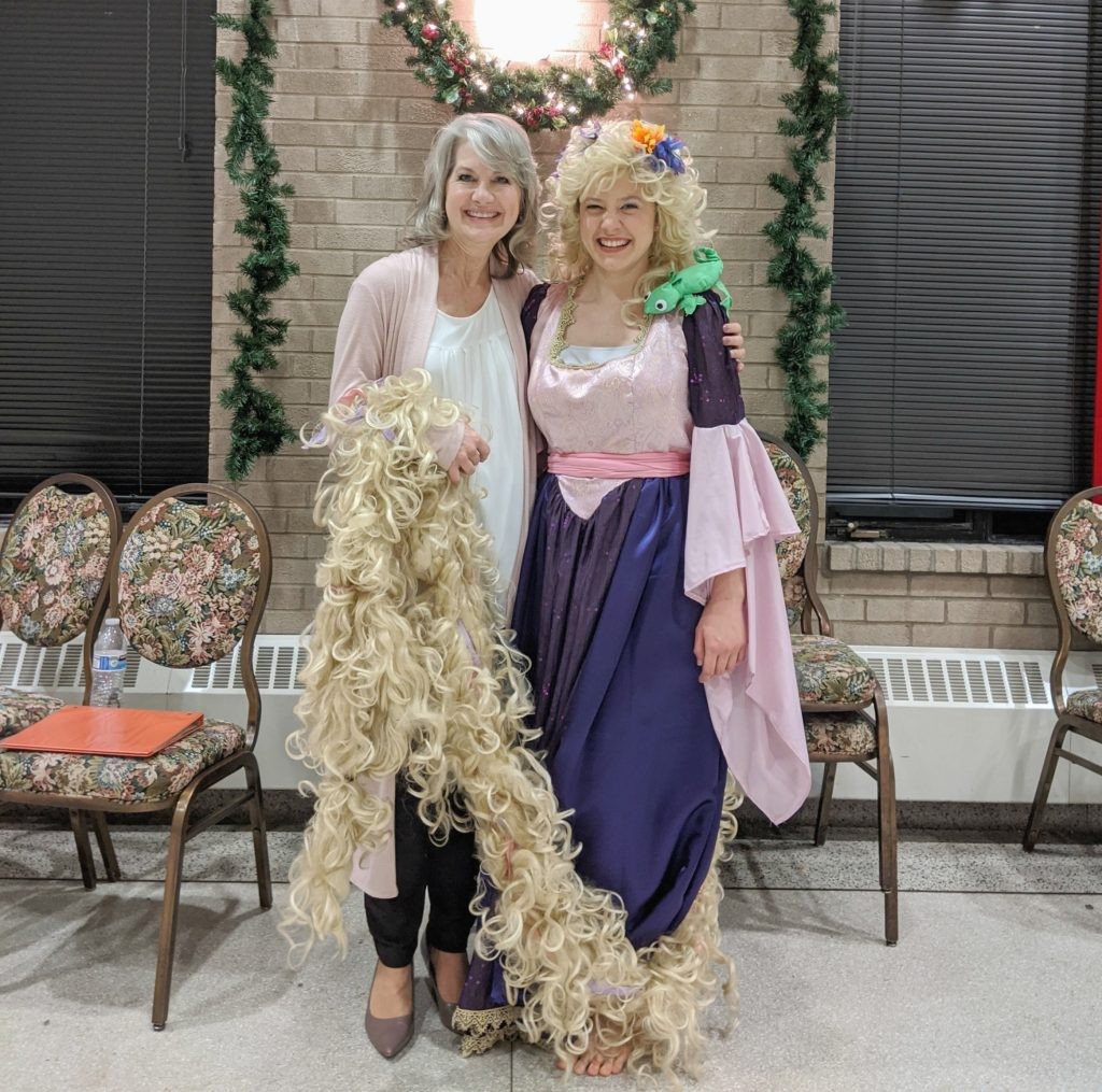 The Angelico Project Family Movie Night presented Tangled-Discovering Christian Symbolism on Jan. 10 at Our Lady of the Holy Spirit Center. The evening included instruction in Christian allegory by Joan Ratajczak and a viewing of Disney's version of the Rapunzel fairy tale, Tangled.
