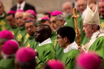 Pope Francis celebrates Mass for World Missionary Day Oct. 20, 2019. Credit: Daniel Ibáñez/CNA.