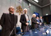 Vatican officials at a Feb. 12 press conference. Credit: Daniel Ibanez/CNA