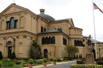 The Franciscan Monastery at 14th and Quincy Streets near the Brookland neighborhood of Northeast Washington, D.C. Credit: Abraham Sobkowski, OFM/wikimedia CC BY SA 2.5