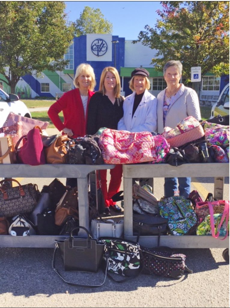 Through Dayton Catholic Women's Club's efforts, hundreds of purses, filled with essentials, were donated to ladies in need.