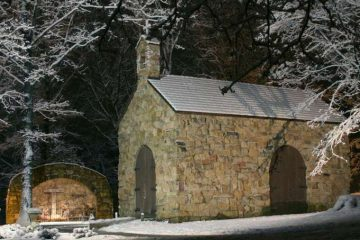 The Portiuncula Chapel on the campus of the Franciscan University of Steubenville. Credit: Robert Pernett via Flickr