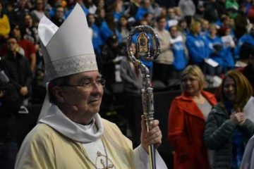 Archbishop Christophe Pierre, apostolic nuncio to the United States, was the celebrant at the 2019 Mass for Life in Washington D.C. on Jan. 18, 2019. Credit: Christine Rousselle/CNA
