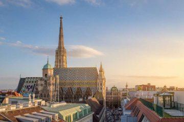 Vienna Skyline with St. Stephen's Cathedral, Vienna, Austria. Credit: mrgb/shutterstock.